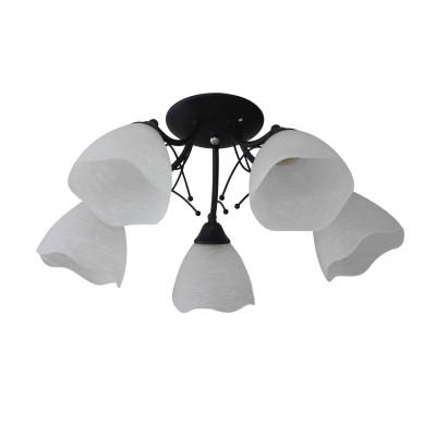 Светильник Colosseo 82185/5Cметаллические люстры<br><br><br>Тип лампы: Накаливания / энергосбережения / светодиодная<br>Тип цоколя: E27<br>Цвет арматуры: Темные тона<br>Количество ламп: 5<br>Диаметр, мм мм: 610<br>Высота полная, мм: 230<br>Высота, мм: 230<br>Поверхность арматуры: матовая<br>Оттенок (цвет): черный<br>MAX мощность ламп, Вт: 60