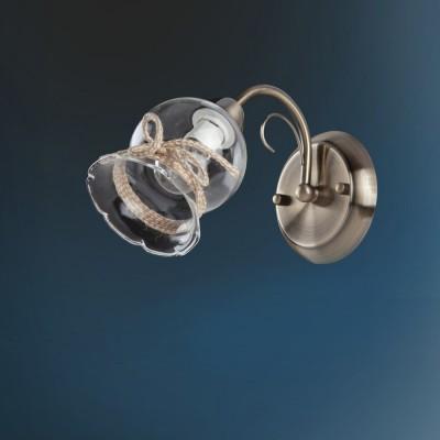 Светильник настенный бра Colosseo 82401/1W BELINDAМодерн<br><br><br>Тип лампы: Накаливания / энергосбережения / светодиодная<br>Тип цоколя: E14<br>Количество ламп: 1<br>Ширина, мм: 120<br>MAX мощность ламп, Вт: 60<br>Расстояние от стены, мм: 270<br>Высота, мм: 215<br>Цвет арматуры: бронзовый