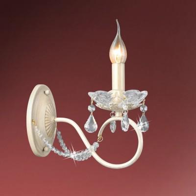 Светильник настенный бра Colosseo 82402/1W DOROTEAКлассические<br><br><br>Тип лампы: Накаливания / энергосбережения / светодиодная<br>Тип цоколя: E14<br>Количество ламп: 1<br>Ширина, мм: 120<br>MAX мощность ламп, Вт: 60<br>Расстояние от стены, мм: 240<br>Высота, мм: 220<br>Цвет арматуры: белый