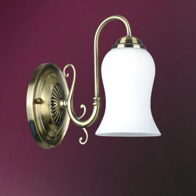 Светильник настенный бра Colosseo 82403/1W LISABETTAКлассические<br><br><br>Тип лампы: Накаливания / энергосбережения / светодиодная<br>Тип цоколя: E14<br>Количество ламп: 1<br>Ширина, мм: 110<br>MAX мощность ламп, Вт: 60<br>Расстояние от стены, мм: 250<br>Высота, мм: 220<br>Цвет арматуры: бронзовый