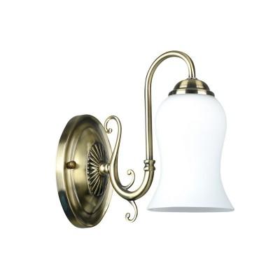 Светильник настенный бра Colosseo 82403/1W LISABETTAКлассические<br><br><br>Тип лампы: Накаливания / энергосбережения / светодиодная<br>Тип цоколя: E14<br>Цвет арматуры: бронзовый<br>Количество ламп: 1<br>Ширина, мм: 110<br>Расстояние от стены, мм: 250<br>Высота, мм: 220<br>MAX мощность ламп, Вт: 60