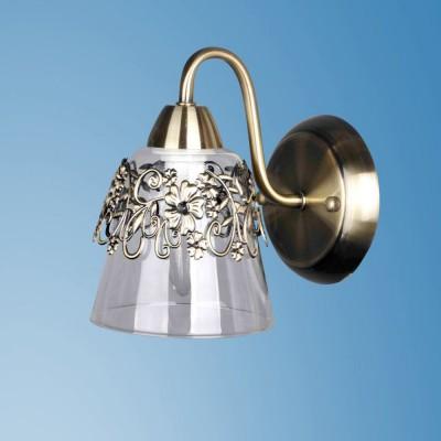 Светильник настенный бра Colosseo 82405/1W LELIAКлассика<br><br><br>Тип лампы: Накаливания / энергосбережения / светодиодная<br>Тип цоколя: E14<br>Количество ламп: 1<br>Ширина, мм: 130<br>MAX мощность ламп, Вт: 60<br>Расстояние от стены, мм: 210<br>Высота, мм: 250<br>Цвет арматуры: бронзовый