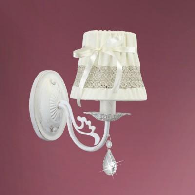 Светильник настенный бра Colosseo 82504/1W DAISYКлассические<br><br><br>Тип лампы: Накаливания / энергосбережения / светодиодная<br>Тип цоколя: E14<br>Цвет арматуры: белый<br>Количество ламп: 1<br>Ширина, мм: 130<br>Расстояние от стены, мм: 240<br>Высота, мм: 240<br>MAX мощность ламп, Вт: 60