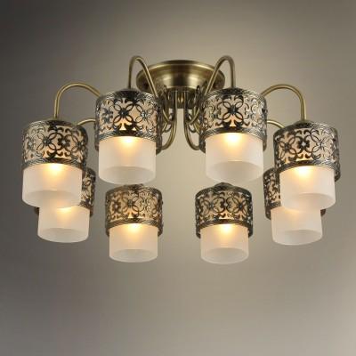Люстра Colosseo 82507/8C ROGGEROПотолочные<br><br><br>Тип товара: Люстра<br>Тип лампы: Накаливания / энергосбережения / светодиодная<br>Тип цоколя: E27<br>Количество ламп: 8<br>MAX мощность ламп, Вт: 60<br>Диаметр, мм мм: 620<br>Высота, мм: 290<br>Цвет арматуры: бронзовый