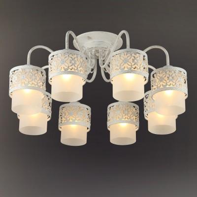 Люстра Colosseo 82508/8C ROGGEROПотолочные<br><br><br>Тип товара: Люстра<br>Тип лампы: Накаливания / энергосбережения / светодиодная<br>Тип цоколя: E27<br>Количество ламп: 8<br>MAX мощность ламп, Вт: 60<br>Диаметр, мм мм: 620<br>Высота, мм: 290<br>Цвет арматуры: белый