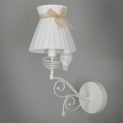 Светильник бра Colosseo 82601/1W FELICIANAФлористика<br><br><br>Тип цоколя: E14<br>Количество ламп: 1<br>Цвет арматуры: белый