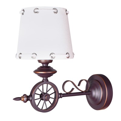 Светильник бра Colosseo 82602/1W GUSTAVOРустика<br><br><br>Тип цоколя: E27<br>Количество ламп: 1<br>Цвет арматуры: коричневый