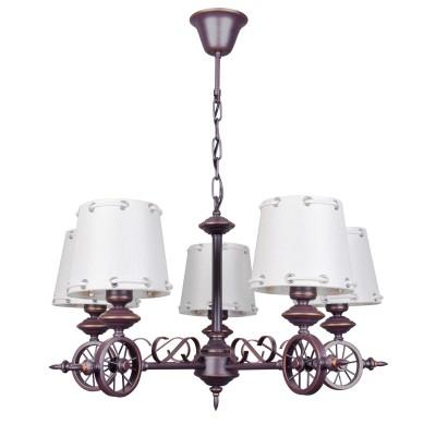 Люстра Colosseo 82602/6 GUSTAVOПодвесные<br><br><br>S освещ. до, м2: 18<br>Тип товара: Люстра<br>Тип цоколя: E27<br>Количество ламп: 6<br>MAX мощность ламп, Вт: 60<br>Цвет арматуры: коричневый