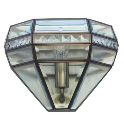 Светильник бра Colosseo 82705/1W RUBENКлассика<br><br><br>Тип цоколя: E14<br>Количество ламп: 1<br>MAX мощность ламп, Вт: 40<br>Диаметр, мм мм: 245<br>Высота, мм: 190<br>Цвет арматуры: бронзовый