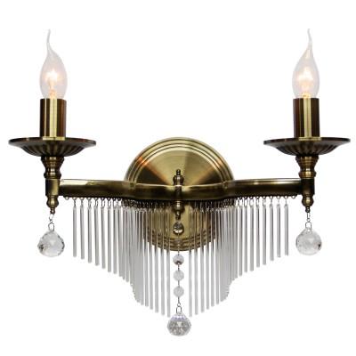 Светильник бра Colosseo 82707/2W INGEBORGAКлассические<br><br><br>Тип цоколя: E14<br>Цвет арматуры: бронзовый<br>Количество ламп: 2<br>Диаметр, мм мм: 395<br>Высота, мм: 285<br>MAX мощность ламп, Вт: 40