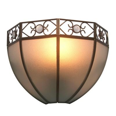 Светильник бра Colosseo 82708/1W MANFREDOКлассические<br><br><br>Тип цоколя: E27<br>Количество ламп: 1<br>MAX мощность ламп, Вт: 60<br>Диаметр, мм мм: 255<br>Высота, мм: 190<br>Цвет арматуры: бронзовый