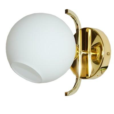 Светильник бра Colosseo 82801/1W NATALEСовременные<br><br><br>Тип цоколя: E14<br>Количество ламп: 1<br>Цвет арматуры: золотой
