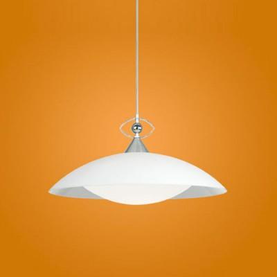 Eglo LOBBY 82863 Светильник подвеснойОдиночные<br>Австрийское качество модели светильника Eglo 82863 не оставит равнодушным каждого купившего! Закаленное стекло (пр-во Чехия), дополнительный внутренний рассеивющий плафон. Основание хромированная сталь/алюминий. Класс изоляции 2 (двойная изоляция до лампы), IP 20, освещенность 1320 lm ,Н=1100D=450,1X100W,E27.<br><br>S освещ. до, м2: 6<br>Тип лампы: накаливания / энергосбережения / LED-светодиодная<br>Тип цоколя: E27<br>Цвет арматуры: серый<br>Количество ламп: 1<br>Диаметр, мм мм: 450<br>Размеры основания, мм: 0<br>Высота, мм: 1100<br>Оттенок (цвет): белый<br>MAX мощность ламп, Вт: 2<br>Общая мощность, Вт: 1X60W