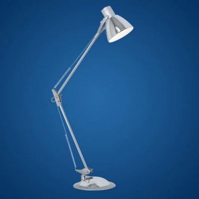 Eglo TIME 82939 Офисная настольная лампаНа струбцине<br>Австрийское качество модели светильника Eglo 82939 не оставит равнодушным каждого купившего! Основание хромированная сталь, Класс изоляции 2 (плоская вилка, двойная изоляция от вилки до лампы), отдельный выключатель, возможность регулировки по высоте, IP 20, освещенность 860 lm L=820, 1X60W(E27).<br><br>S освещ. до, м2: 4<br>Тип лампы: накал-я - энергосбер-я<br>Тип цоколя: E27<br>Количество ламп: 1<br>MAX мощность ламп, Вт: 7<br>Размеры основания, мм: 195<br>Длина, мм: 820<br>Цвет арматуры: серебристый<br>Общая мощность, Вт: 1X60W