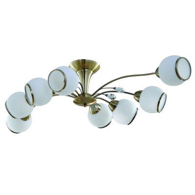 Светильник IDLamp 830/8PF Oldbronzeсовременные потолочные люстры модерн<br>Компания «Светодом» предлагает широкий ассортимент люстр от известных производителей. Представленные в нашем каталоге товары выполнены из современных материалов и обладают отличным качеством. Благодаря широкому ассортименту Вы сможете найти у нас люстру под любой интерьер. Мы предлагаем как классические варианты, так и современные модели, отличающиеся лаконичностью и простотой форм.  Стильная люстра IDLamp 830/8PF-Oldbronze станет украшением любого дома. Эта модель от известного производителя не оставит равнодушным ценителей красивых и оригинальных предметов интерьера. Люстра IDLamp 830/8PF-Oldbronze обеспечит равномерное распределение света по всей комнате. При выборе обратите внимание на характеристики, позволяющие приобрести наиболее подходящую модель. Купить понравившуюся люстру по доступной цене Вы можете в интернет-магазине «Светодом».<br><br>Установка на натяжной потолок: Да<br>S освещ. до, м2: 32<br>Крепление: Потолочные<br>Тип лампы: накаливания / энергосбережения / LED-светодиодная<br>Тип цоколя: E14<br>Цвет арматуры: бронзовый антик<br>Количество ламп: 8<br>Ширина, мм: 590<br>Длина, мм: 940<br>Высота, мм: 240<br>Оттенок (цвет): белый<br>MAX мощность ламп, Вт: 60