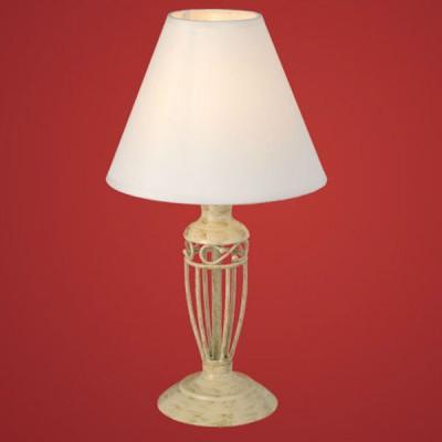 Eglo ANTICA 83141 Настольная лампаС абажуром<br>Австрийское качество модели светильника Eglo 83141 не оставит равнодушным каждого купившего! Основание сталь с защитным/декоративным покрытием кремового цвета цвета с эффектом старения, текстильный абажур с защитным покрытием белого цвета, Класс изоляции 2 (плоская вилка, двойная изоляция от вилки до лампы), отдельный выключатель, IP 20, освещенность 860 lm Н=385,D=210.<br><br>S освещ. до, м2: 4<br>Тип лампы: накал-я - энергосбер-я<br>Тип цоколя: E14<br>Количество ламп: 1<br>MAX мощность ламп, Вт: 2<br>Диаметр, мм мм: 210<br>Размеры основания, мм: 120<br>Высота, мм: 385<br>Оттенок (цвет): бежевый<br>Цвет арматуры: бежевый с золотистой патиной<br>Общая мощность, Вт: 1X60W