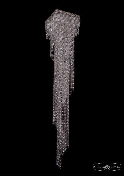Люстра хрустальная большая Bohemia Ivele 8317/40-215/Ni/R14Каскадные<br><br><br>Тип товара: Люстра хрустальная большая<br>Тип лампы: накаливания / энергосбережения / LED-светодиодная<br>Тип цоколя: E14<br>Количество ламп: 11<br>Диаметр, мм мм: 400<br>Высота, мм: 2150<br>Цвет арматуры: Никель