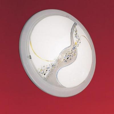 Eglo PLANET 3 83195 Настенно-потолочный светильникКруглые<br>Австрийское качество модели светильника Eglo 83195 не оставит равнодушным каждого купившего! Матовое закаленное стекло(пр-во Чехия) , лаковый рисунок, основание сталь с защитно/декративным белым покрытием , Класс изоляции 2 (двойная изоляция), IP 20, освещенность 1320 lm ,D=290,1X60W,E27.<br><br>S освещ. до, м2: 6<br>Тип лампы: накаливания / энергосбережения / LED-светодиодная<br>Тип цоколя: E27<br>Количество ламп: 1<br>MAX мощность ламп, Вт: 2<br>Диаметр, мм мм: 290<br>Размеры основания, мм: 0<br>Расстояние от стены, мм: 85<br>Оттенок (цвет): дизайн кароле<br>Цвет арматуры: белый<br>Общая мощность, Вт: 1X60W