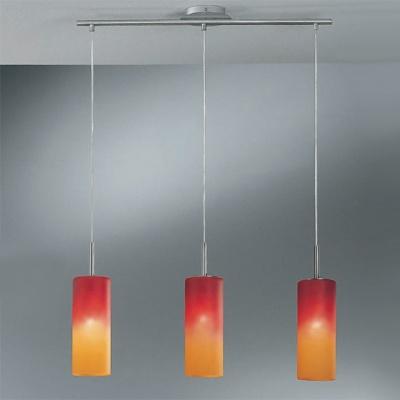 Eglo TROY 1 83203 Светильник подвеснойТройные<br>Австрийское качество модели светильника Eglo 83203 не оставит равнодушным каждого купившего! Матовое закаленное стекло(пр-во Чехия), Никелированный корпус, Класс изоляции 2 (двойная изоляция), IP 20, освещенность 2418 lm ,L=720B=105Н=1100,3X60W,E27.<br><br>S освещ. до, м2: 12<br>Тип лампы: накаливания / энергосбережения / LED-светодиодная<br>Тип цоколя: E27<br>Количество ламп: 3<br>Ширина, мм: 105<br>MAX мощность ламп, Вт: 2<br>Размеры основания, мм: 0<br>Длина, мм: 720<br>Высота, мм: 1100<br>Оттенок (цвет): красно-оранжевый<br>Цвет арматуры: серый<br>Общая мощность, Вт: 3X60W