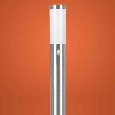 Eglo HELSINKI 83281 светильник уличныйОдиночные столбы<br>Энергосберегающие парковые светильники EGLO MALMO (IP44) и EGLO HELSINKI (IP44) — светильники для наружного освещения. Степень защиты IP44 — защита от твердых тел gt  1 мм, защита от капель и брызг. Модели 2, 7, 8, 9 снабжены датчиком движения. Плафоны из матового пластика, арматура из нержавеющей стали. Светильники рассчитаны на энергосберегающую компактную люминесцентную лампу PL 15W E27. Цвет Malmo: 1, 2, 3, 4 — нержавеющая сталь (niro)  цвет Helsinki: 5, 6, 7, 8, 9, 10 — нержавеющая сталь (niro).<br><br>Тип цоколя: E27-ESL-2U<br>MAX мощность ламп, Вт: 15<br>Диаметр, мм мм: 75<br>Размеры основания, мм: 115<br>Высота, мм: 1100<br>Оттенок (цвет): белый<br>Цвет арматуры: серебристый<br>Общая мощность, Вт: 2