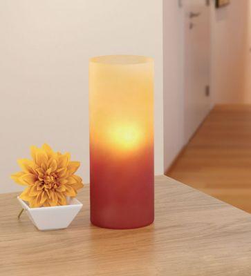 Eglo BLOB 83374 Настольная лампаДекоративные<br>Австрийское качество модели светильника Eglo 83374 не оставит равнодушным каждого купившего! Плафон из закаленного стекла желтого цвета, Класс изоляции 2 (плоская вилка, двойная изоляция от вилки до лампы), отдельный выключатель, IP 20, освещенность 1320 lm Н=270,D=105.<br><br>S освещ. до, м2: 6<br>Тип лампы: накал-я - энергосбер-я<br>Тип цоколя: E27<br>Количество ламп: 1<br>MAX мощность ламп, Вт: 2<br>Диаметр, мм мм: 105<br>Размеры основания, мм: 105<br>Высота, мм: 270<br>Оттенок (цвет): красный, оранжевый<br>Общая мощность, Вт: 1X60W