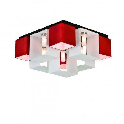 Люстра потолочная St luce SL536.562.09Потолочные<br>Касаемо коллекции модели St luce SL536.562.09 хотелось бы отметить основные моменты: Оригинальные светильники коллекции Concreto украсят современный интерьер в стиле хай-тек, минимализм, лофт, постмодерн. Это отличный вариант для освещения комнаты, кабинета или офисного помещения. Благодаря модным контрастным сочетаниям цветов, светильники станут яркой деталью интерьера. Основание выполнено из металла, плафоны стеклянные.<br><br>Установка на натяжной потолок: Ограничено<br>S освещ. до, м2: 24<br>Крепление: Планка<br>Тип лампы: галогенная / LED-светодиодная<br>Тип цоколя: G9<br>Количество ламп: 9<br>Ширина, мм: 420<br>MAX мощность ламп, Вт: 40<br>Длина, мм: 420<br>Высота, мм: 230<br>Поверхность арматуры: матовая<br>Оттенок (цвет): красный<br>Цвет арматуры: белый