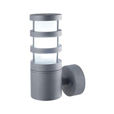 Светильник Elektrostandart Techno 8372 серыйУличные настенные светильники<br>Светильник предназначен для функционально-декоративного освещения садово-парковых зон, а также внутреннего и внешнего освещения зданий. Степень пыле-влагозащиты IР44 позволяет устанавливать светильник под открытым небом.  Корпус светильника изготовлен из литого под давлением алюминия, покрыт порошковой краской. Рассеиватель выполнен из полихлорида. Покрытие светильника устойчиво к воздействию окружающей среды и надежно защищает от коррозии.<br>Светильник рассчитан на работу с двумя энергосберегающими лампами E27 мощностью до 20 Вт. В светильнике рекомендуется использовать энергосберегающие лампы Elektrostandard™.<br>Мощность: 20 Вт  Цоколь: Е27 Питание: 220-240 В / 50 Гц Степень пылевлагозащищенности: IР44<br><br>Крепление: настенное<br>Тип лампы: накаливания / энергосбережения / LED-светодиодная<br>Тип цоколя: Е27<br>Цвет арматуры: серый<br>Количество ламп: 1<br>Ширина, мм: 90<br>Длина, мм: 238<br>Расстояние от стены, мм: 148<br>Оттенок (цвет): серый<br>MAX мощность ламп, Вт: 20