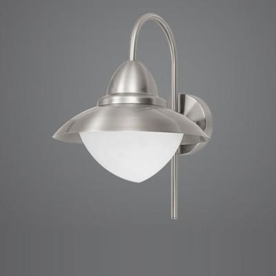 Eglo SIDNEY 83966 светильник уличныйНастенные<br>Парковые светильники EGLO SIDNEY (IP44) — светильники для наружного освещения. Степень защиты IP44 — защита от твердых тел gt  1 мм, защита от капель и брызг. В серию входит настенный светильник 2 с датчиком движения. Плафоны из высококачественного прозрачного стекла, арматура из нержавеющей стали. Светильники рассчитаны на обычную лампу E27 60W max. Цвет: нержавеющая сталь (stainless steel).<br><br>Тип цоколя: E27<br>MAX мощность ламп, Вт: 60<br>Диаметр, мм мм: 270<br>Расстояние от стены, мм: 325<br>Высота, мм: 375<br>Оттенок (цвет): белый<br>Цвет арматуры: серебристый<br>Общая мощность, Вт: 2