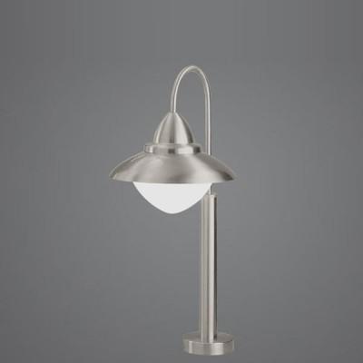 Eglo SIDNEY 83968 светильник уличныйОдиночные столбы<br>Парковые светильники EGLO SIDNEY (IP44) — светильники для наружного освещения. Степень защиты IP44 — защита от твердых тел gt  1 мм, защита от капель и брызг. В серию входит настенный светильник 2 с датчиком движения. Плафоны из высококачественного прозрачного стекла, арматура из нержавеющей стали. Светильники рассчитаны на обычную лампу E27 60W max. Цвет: нержавеющая сталь (stainless steel).<br><br>Тип цоколя: E27<br>Цвет арматуры: серебристый<br>Ширина, мм: 350<br>Размеры основания, мм: 120<br>Высота, мм: 620<br>Оттенок (цвет): белый<br>MAX мощность ламп, Вт: 60<br>Общая мощность, Вт: 2