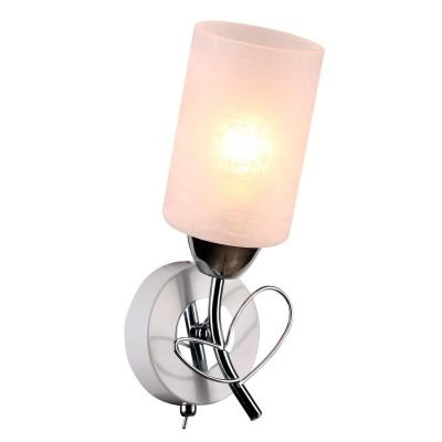 Светильник настенный бра Idlamp 841/1A-Whitechrome Aldaсовременные бра модерн<br><br><br>Крепление: Настенные<br>Тип лампы: Накаливания / энергосбережения / светодиодная<br>Тип цоколя: E27<br>Цвет арматуры: серебристый<br>Количество ламп: 1<br>Ширина, мм: 180<br>Длина, мм: 250<br>Высота, мм: 160<br>MAX мощность ламп, Вт: 60