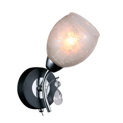 Светильник настенный бра Idlamp 843/1A-Blackchrome AgnesСовременные<br><br><br>Крепление: Настенные<br>Тип лампы: Накаливания / энергосбережения / светодиодная<br>Тип цоколя: E14<br>Цвет арматуры: серебристый<br>Количество ламп: 1<br>Ширина, мм: 180<br>Длина, мм: 250<br>Высота, мм: 160<br>MAX мощность ламп, Вт: 60