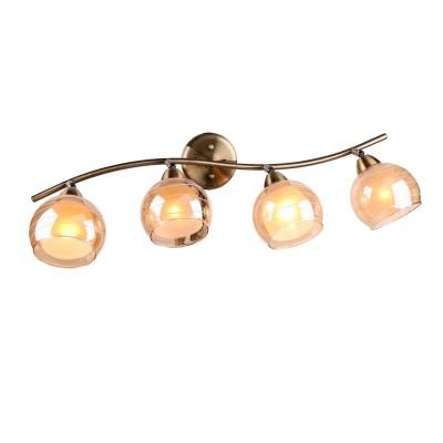 Светильник Idlamp 844/4PF-Oldbronze Liaспоты 4 лампы<br>Светильники-споты – это оригинальные изделия с современным дизайном. Они позволяют не ограничивать свою фантазию при выборе освещения для интерьера. Такие модели обеспечивают достаточно качественный свет. Благодаря компактным размерам Вы можете использовать несколько спотов для одного помещения.  Интернет-магазин «Светодом» предлагает необычный светильник-спот IDLamp 844/4PF-Oldbronze по привлекательной цене. Эта модель станет отличным дополнением к люстре, выполненной в том же стиле. Перед оформлением заказа изучите характеристики изделия.  Купить светильник-спот IDLamp 844/4PF-Oldbronze в нашем онлайн-магазине Вы можете либо с помощью формы на сайте, либо по указанным выше телефонам. Обратите внимание, что у нас склады не только в Москве и Екатеринбурге, но и других городах России.<br><br>S освещ. до, м2: 12<br>Крепление: Настенные<br>Тип цоколя: E27<br>Количество ламп: 4<br>Ширина, мм: 220<br>Длина, мм: 580<br>Высота, мм: 250<br>MAX мощность ламп, Вт: 60