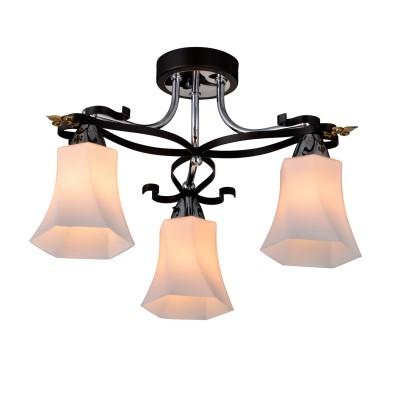 Люстра Idlamp 849/3PF-Dark MongaПотолочные<br><br><br>Установка на натяжной потолок: Да<br>S освещ. до, м2: 6<br>Крепление: Планка<br>Тип товара: Люстра<br>Скидка, %: 32<br>Тип лампы: Накаливания / энергосбережения / светодиодная<br>Тип цоколя: E14<br>Количество ламп: 3<br>Ширина, мм: 440<br>MAX мощность ламп, Вт: 40<br>Диаметр, мм мм: 440<br>Длина, мм: 440<br>Высота, мм: 270<br>Цвет арматуры: серебристый