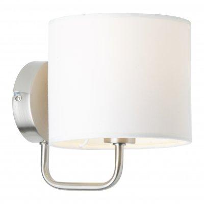 Светильник бра Brilliant 85010/75 SandraСовременные<br>Зачастую мы ищем идеальное освещение для своего дома и уделяем этому достаточно много времени. Так, например, если нам нужен светильник с количеством ламп - 1 и цвет плафонов должен быть - белый, а материал плафонов только текстиль! То нам, как вариант, подойдет модель - Бра Brilliant 85010/75.<br><br>S освещ. до, м2: 2<br>Тип лампы: накаливания / энергосбережения / LED-светодиодная<br>Тип цоколя: E14<br>Цвет арматуры: серебристый<br>Количество ламп: 1<br>Диаметр, мм мм: 150<br>Высота, мм: 180<br>MAX мощность ламп, Вт: 40