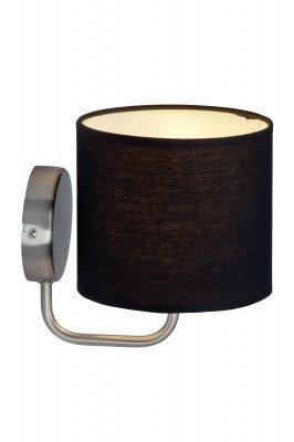 Светильник бра Brilliant 85010/76 SandraСовременные<br>Зачастую мы ищем идеальное освещение для своего дома и уделяем этому достаточно много времени. Так, например, если нам нужен светильник с количеством ламп - 1 и цвет плафонов должен быть - черный, а материал плафонов только текстиль! То нам, как вариант, подойдет модель - Бра Brilliant 85010/76.<br><br>S освещ. до, м2: 2<br>Тип лампы: накаливания / энергосбережения / LED-светодиодная<br>Тип цоколя: E14<br>Цвет арматуры: серебристый<br>Количество ламп: 1<br>Диаметр, мм мм: 150<br>Высота, мм: 180<br>MAX мощность ламп, Вт: 40