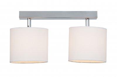 Светильник Brilliant G85029/05 SandraПотолочные<br><br><br>Установка на натяжной потолок: Да<br>S освещ. до, м2: 4<br>Крепление: Планка<br>Тип товара: Светильник поворотный спот<br>Тип лампы: галогенная / LED-светодиодная<br>Тип цоколя: G9<br>Количество ламп: 2<br>Ширина, мм: 270<br>MAX мощность ламп, Вт: 40<br>Высота, мм: 345