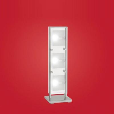 Eglo Eglo 8505 85057 настольная лампаХай тек<br>Настольная лампа – это не просто источник дополнительного освещения, но и оригинальный элемент декора. Его можно установить в спальне, гостиной, кабинете и других комнатах. Интернет-магазин «Светодом» предлагает настольные лампы разных стилей по доступным ценам. Благодаря большому ассортименту Вы обязательно найдете в нашем каталоге именно ту модель, которую искали.   Настольная лампа Eglo 85057 – прекрасный вариант для завершения интерьера. Ее можно включить одновременно с люстрой для более яркого освещения или без нее для создания уютной атмосферы, настраивающей на отдых.   Купить настольную лампу Eglo 85057 Вы можете с помощью виртуальной «Корзины» или по контактным номерам, указанным на сайте.<br><br>S освещ. до, м2: 8<br>Тип лампы: галогенная / LED-светодиодная<br>Тип цоколя: G9<br>Количество ламп: 3<br>Ширина, мм: 155<br>MAX мощность ламп, Вт: 40<br>Высота, мм: 495<br>Цвет арматуры: серебристый