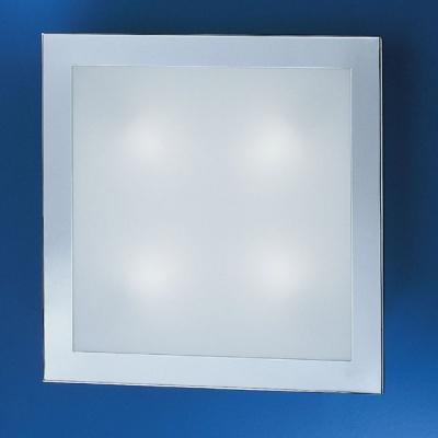 Eglo AURIGA 85094 Настенно-потолочные светильникиКвадратные<br>Австрийское качество модели светильника Eglo 85094 не оставит равнодушным каждого купившего! Матовое закаленное стекло(пр-во Чехия) на 5 сторонах светильника, Хромированный корпус, Класс изоляции 3 (двойная изоляция), IP 20, Экологически безопасные технологии.,L=385B=385Н=65,1X80W,R7S.<br><br>S освещ. до, м2: 10<br>Тип лампы: галогенная / LED-светодиодная<br>Тип цоколя: R7S<br>Количество ламп: 1<br>Ширина, мм: 385<br>MAX мощность ламп, Вт: 2<br>Размеры основания, мм: 0<br>Длина, мм: 385<br>Высота, мм: 65<br>Оттенок (цвет): белый<br>Цвет арматуры: серебристый<br>Общая мощность, Вт: 1X80W
