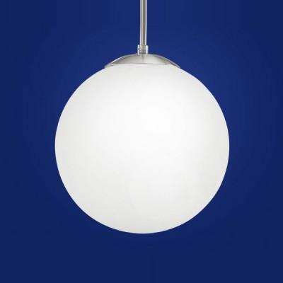 Eglo RONDO 85262 Светильник подвеснойОдиночные<br>Австрийское качество модели светильника Eglo 85262 не оставит равнодушным каждого купившего! Матовое закаленное стекло(пр-во Чехия), Хромированный корпус, Класс изоляции 2 (двойная изоляция), IP 20, освещенность 1340 lm ,Н=1100D=250,1X60W,E27.<br><br>S освещ. до, м2: 6<br>Тип лампы: накаливания / энергосбережения / LED-светодиодная<br>Тип цоколя: E27<br>Количество ламп: 1<br>MAX мощность ламп, Вт: 2<br>Диаметр, мм мм: 250<br>Размеры основания, мм: 0<br>Высота, мм: 1100<br>Оттенок (цвет): белый<br>Цвет арматуры: серый<br>Общая мощность, Вт: 1X60W