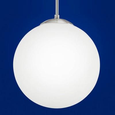 Eglo RONDO 85263 Светильник подвеснойодиночные подвесные светильники<br>Австрийское качество модели светильника Eglo 85263 не оставит равнодушным каждого купившего! Матовое закаленное стекло(пр-во Чехия), Хромированный корпус, Класс изоляции 2 (двойная изоляция), IP 20, освещенность 1340 lm ,Н=1100D=300,1X60W,E27.<br><br>S освещ. до, м2: 6<br>Тип лампы: накаливания / энергосбережения / LED-светодиодная<br>Тип цоколя: E27<br>Цвет арматуры: серый<br>Количество ламп: 1<br>Диаметр, мм мм: 300<br>Размеры основания, мм: 0<br>Высота, мм: 1100<br>Оттенок (цвет): белый<br>MAX мощность ламп, Вт: 2<br>Общая мощность, Вт: 1X60W