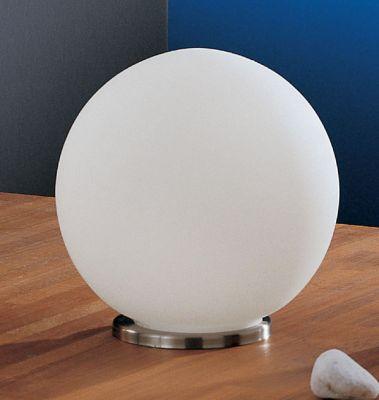 Eglo RONDO 85264 Настольная лампаВ виде шара<br>Настольная лампа – это не просто источник дополнительного освещения, но и оригинальный элемент декора. Его можно установить в спальне, гостиной, кабинете и других комнатах. Интернет-магазин «Светодом» предлагает настольные лампы разных стилей по доступным ценам. Благодаря большому ассортименту Вы обязательно найдете в нашем каталоге именно ту модель, которую искали.   Настольная лампа Eglo 85264 – прекрасный вариант для завершения интерьера. Ее можно включить одновременно с люстрой для более яркого освещения или без нее для создания уютной атмосферы, настраивающей на отдых.   Купить настольную лампу Eglo 85264 Вы можете с помощью виртуальной «Корзины» или по контактным номерам, указанным на сайте.<br><br>S освещ. до, м2: 4<br>Тип лампы: накал-я - энергосбер-я<br>Тип цоколя: E27<br>Количество ламп: 1<br>MAX мощность ламп, Вт: 7<br>Диаметр, мм мм: 200<br>Размеры основания, мм: 0<br>Высота, мм: 200<br>Оттенок (цвет): белый<br>Цвет арматуры: серебристый<br>Общая мощность, Вт: 1X60W