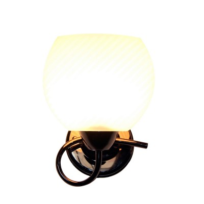 Светильник настенный бра Idlamp 853/1A-Blackchrome Eldaсовременные бра модерн<br><br><br>Крепление: Настенные<br>Тип лампы: Накаливания / энергосбережения / светодиодная<br>Тип цоколя: E14<br>Цвет арматуры: черный<br>Количество ламп: 1<br>Ширина, мм: 245<br>Диаметр, мм мм: 245<br>Длина, мм: 245<br>Высота, мм: 220<br>MAX мощность ламп, Вт: 60