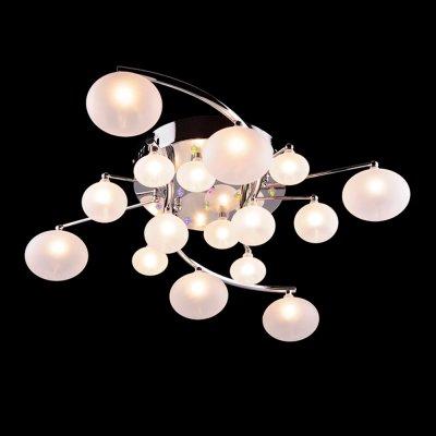 Люстра Eurosvet 85450/16 хром/мультиПотолочные<br><br><br>Установка на натяжной потолок: Ограничено<br>S освещ. до, м2: 21<br>Крепление: Планка<br>Тип товара: Люстра<br>Тип лампы: галогенная / LED-светодиодная<br>Тип цоколя: G4<br>Количество ламп: 16<br>Ширина, мм: 530<br>MAX мощность ламп, Вт: 20<br>Длина, мм: 630<br>Высота, мм: 160<br>Цвет арматуры: серебристый