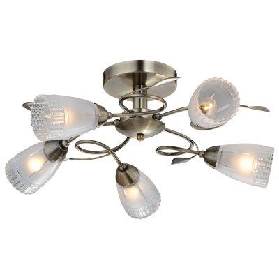 Люстра IDLamp 858/5PF OldbronzeПотолочные<br><br><br>Установка на натяжной потолок: Да<br>S освещ. до, м2: 20<br>Крепление: Планка<br>Тип товара: Люстра<br>Скидка, %: 24<br>Тип лампы: накаливания / энергосбережения / LED-светодиодная<br>Тип цоколя: E14<br>Количество ламп: 5<br>MAX мощность ламп, Вт: 60<br>Диаметр, мм мм: 560<br>Высота, мм: 260<br>Оттенок (цвет): Полупрозрачный<br>Цвет арматуры: бронзовый