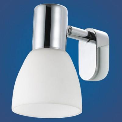 Eglo STICKER 85832 светильник для ванной комнаты и зеркалДля зеркала<br>Австрийское качество модели светильника Eglo 85832 не оставит равнодушным каждого купившего!.<br><br>S освещ. до, м2: 2<br>Тип лампы: накаливания / энергосбережения / LED-светодиодная<br>Тип цоколя: E14<br>Цвет арматуры: серебристый<br>Количество ламп: 1<br>Размеры основания, мм: 0<br>Длина, мм: 70<br>Расстояние от стены, мм: 95<br>Высота, мм: 115<br>Оттенок (цвет): белый<br>MAX мощность ламп, Вт: 2<br>Общая мощность, Вт: 1X40W