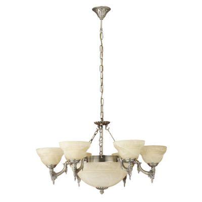 Eglo MARBELLA 85858 ЛюстраПодвесные<br>Австрийское качество модели светильника Eglo 85858 не оставит равнодушным каждого купившего! Закаленное алебастровое стекло(пр-во Чехия), Корпус бронза на цепном подвесе, Класс изоляции 3 (двойная изоляция), IP 20, освещенность 6300 lm ,Н=1100D=740,9X60W,E14.<br><br>Установка на натяжной потолок: Да<br>S освещ. до, м2: 36<br>Крепление: Крюк<br>Тип лампы: накаливания / энергосбережения / LED-светодиодная<br>Тип цоколя: E14<br>Цвет арматуры: бронзовый<br>Количество ламп: 9<br>Диаметр, мм мм: 740<br>Размеры основания, мм: 0<br>Высота, мм: 1100<br>Оттенок (цвет): шампань бежевый<br>MAX мощность ламп, Вт: 2<br>Общая мощность, Вт: 9X60W