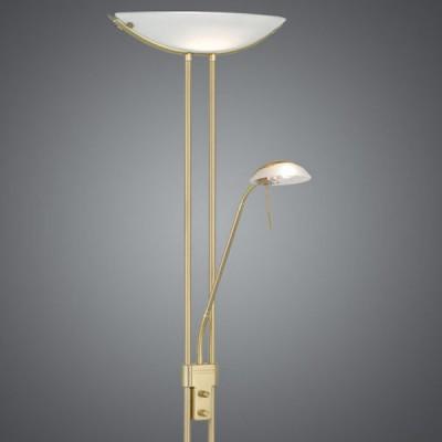Eglo BAYA 85973 Торшер напольныйМодерн<br>Австрийское качество модели светильника Eglo 85973 не оставит равнодушным каждого купившего! Основание латунь, опаловое стекло белого цвета, дополнительный светильник для чтения с отдельным выключателем, Класс изоляции 2 (плоская вилка, двойная изоляция от вилки до лампы), IP 20, освещенность 3180 lm Н=1800,L=440.<br><br>S освещ. до, м2: 2<br>Тип лампы: галогенная / LED-светодиодная<br>Тип цоколя: R7S<br>Количество ламп: 1+1<br>MAX мощность ламп, Вт: 7<br>Размеры основания, мм: 280<br>Длина, мм: 440<br>Высота, мм: 1800<br>Оттенок (цвет): белый<br>Цвет арматуры: латунь<br>Общая мощность, Вт: 1X230W