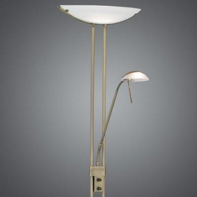Eglo BAYA 85974 Торшер напольныйМодерн<br>Австрийское качество модели светильника Eglo 85974 не оставит равнодушным каждого купившего! Основание сталь с бронзовым покрытием, опаловое стекло белого цвета, дополнительный светильник для чтения с отдельным выключателем, Класс изоляции 2 (плоская вилка, двойная изоляция от вилки до лампы), IP 20, освещенность 3180 lm Н=1800,L=440.<br><br>S освещ. до, м2: 2<br>Тип лампы: галогенная / LED-светодиодная<br>Тип цоколя: R7S<br>Количество ламп: 1+1<br>MAX мощность ламп, Вт: 7<br>Размеры основания, мм: 280<br>Длина, мм: 440<br>Высота, мм: 1800<br>Оттенок (цвет): белый<br>Цвет арматуры: бронзовый<br>Общая мощность, Вт: 1X230W