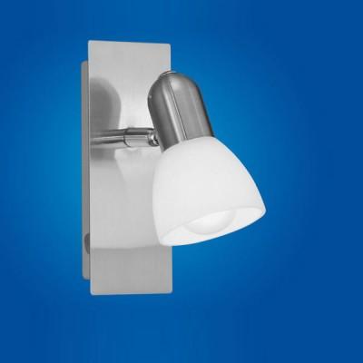 Eglo ARES 1 86212 Светильник поворотный спотОдиночные<br>Австрийское качество модели светильника Eglo 86212 не оставит равнодушным каждого купившего! Закаленное алебастровое стекло (пр-во Чехия) , основание сталь с никелевыми матирующим покрытием , Класс изоляции 2 (двойная изоляция от вилки до лампы), выключатель на корпусе, IP 20, освещенность 470 lm ,Н=150B=70L=165,1X40W,E14.<br><br>S освещ. до, м2: 2<br>Тип лампы: накал-я - энергосбер-я<br>Тип цоколя: E14<br>Количество ламп: 1<br>Ширина, мм: 70<br>MAX мощность ламп, Вт: 2<br>Размеры основания, мм: 0<br>Длина, мм: 165<br>Высота, мм: 150<br>Оттенок (цвет): белый<br>Цвет арматуры: серый<br>Общая мощность, Вт: 1X40W