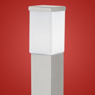Eglo CALGARY 86389 светильник уличныйОдиночные столбы<br>Парковые светильники EGLO CALGARY (IP23) — светильники для наружного освещения. Степень защиты IP23 — защита от твердых тел gt  12 мм, защита от дождя. Плафоны из высококачественного матового стекла, арматура из нержавеющей стали. Светильники рассчитаны на обычную лампу E27 60W max. Цвет: нержавеющая сталь (stainless steel).<br><br>Тип цоколя: E27<br>Цвет арматуры: серебристый<br>Ширина, мм: 100<br>Размеры основания, мм: 90*90<br>Длина, мм: 100<br>Высота, мм: 1100<br>Оттенок (цвет): белый<br>MAX мощность ламп, Вт: 60<br>Общая мощность, Вт: 2